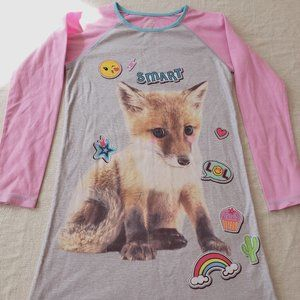 Sleepwear Girls XL Nightgown with Smart Fox